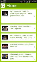 Screenshot of Diante do Trono - Canto Gospel