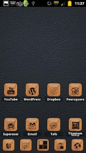 Burnt Leather ADW Theme - screenshot thumbnail