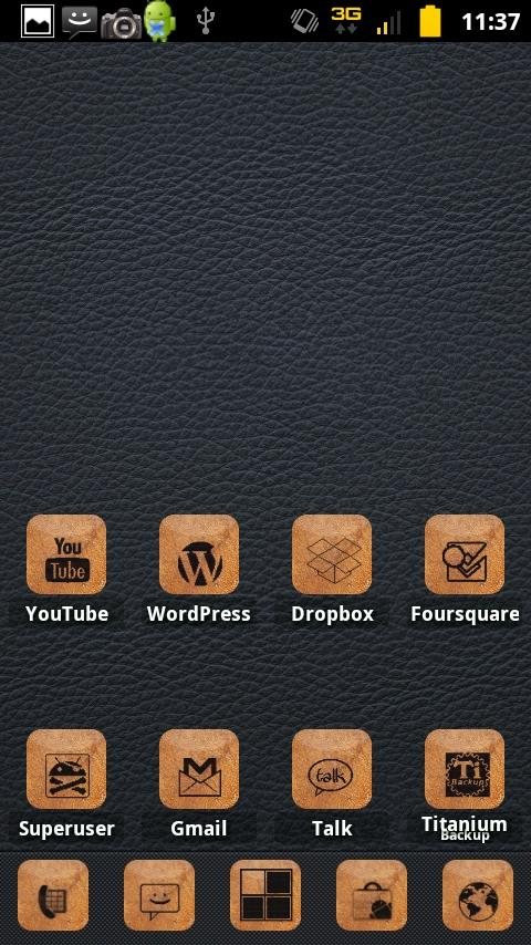 Burnt Leather ADW Theme- screenshot