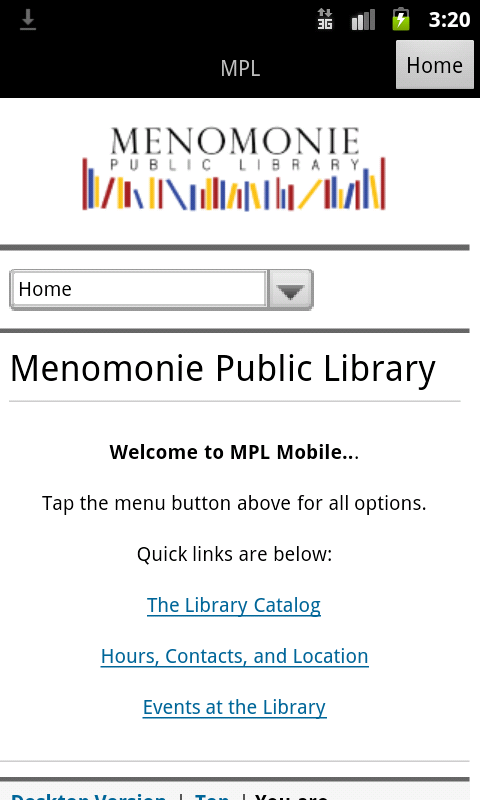 Menomonie Public Library - screenshot