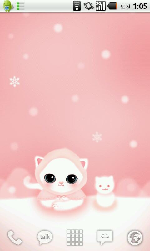 [D] snow cat live wallpaper - screenshot