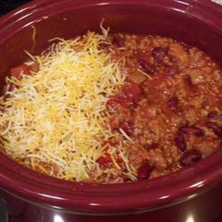 Slow Cooker Turkey Cheeseburger Chili