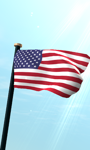 米国外諸島フラグ3D無料ライブ壁紙