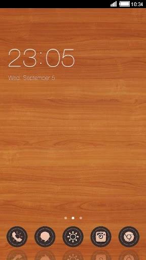 Wooden C Launcher Theme
