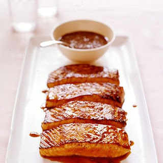 Salmon with Honey-Coriander Glaze.