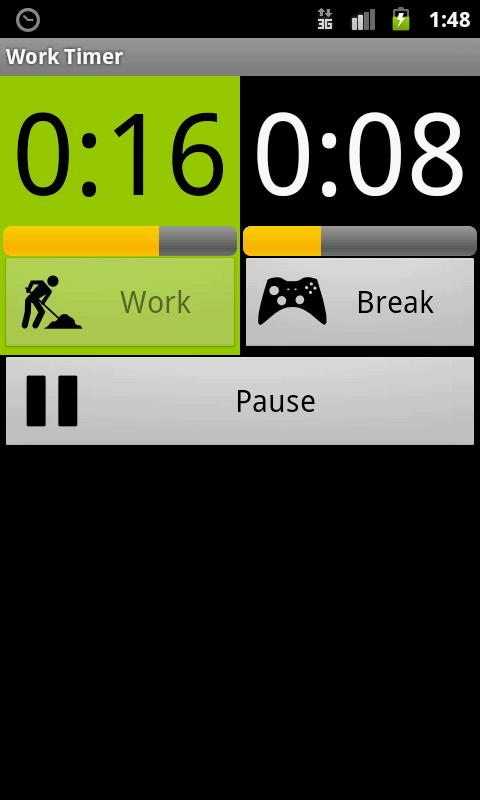 Work Timer - screenshot