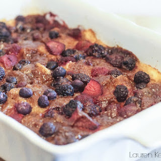 Overnight Mixed Berry French Toast Casserole