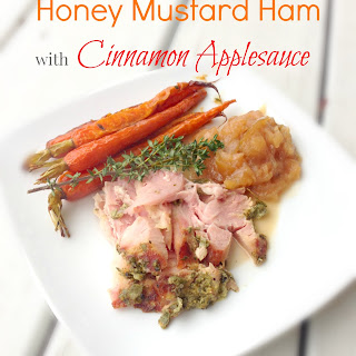 Honey Mustard Ham with Warm Cinnamon Applesauce