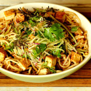 Noodles with Peanut Sauce and Tofu.