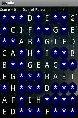 Sudoku with symbols & letters - screenshot