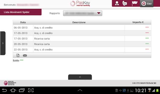 Banca MPS per Tablet - screenshot thumbnail