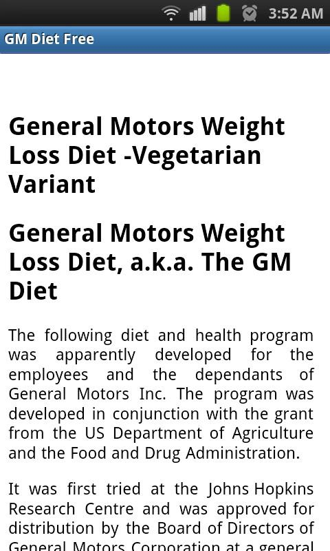 GM Diet Free - Android Apps on Google Play