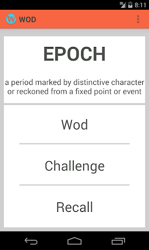 Word of the day WOD