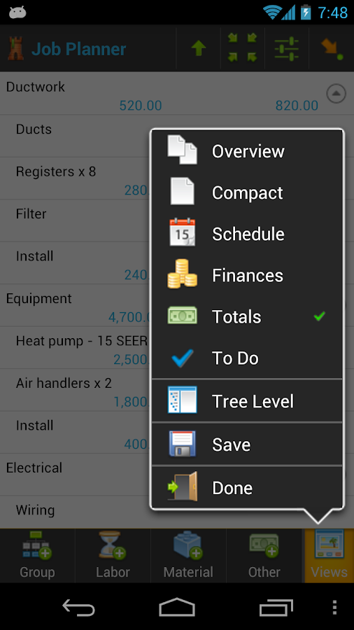 Contractor: Project Management- screenshot