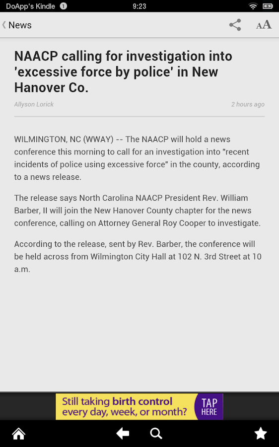 WWAY NewsChannel 3 - screenshot