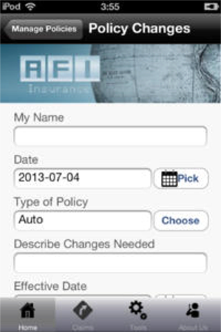 AFI Insurance- screenshot
