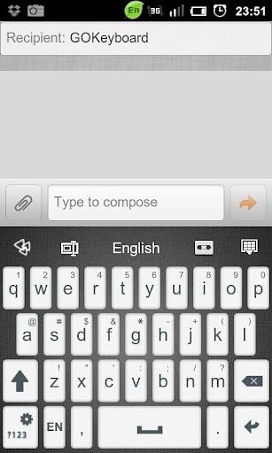 GO Keyboard Beta Dark Theme