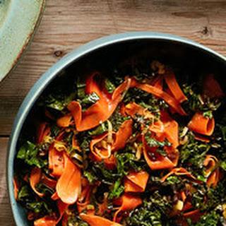 Gingered Carrot & Kale Ribbons Recipe
