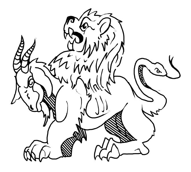 Chimera Greek Mythology Drawing Chimera