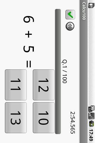 Calcu100- screenshot