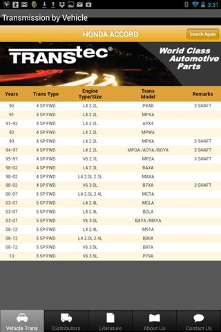 TransTec  Transmission Guide – скриншот