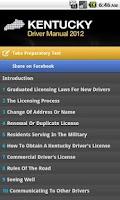 Screenshot of Kentucky Driver Manual Free