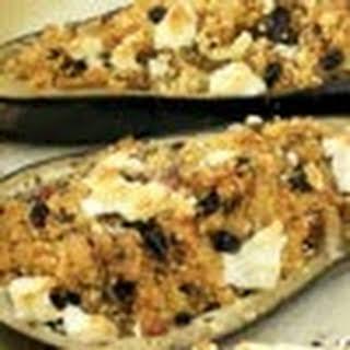 Eggplant Stuffed with Tofu.