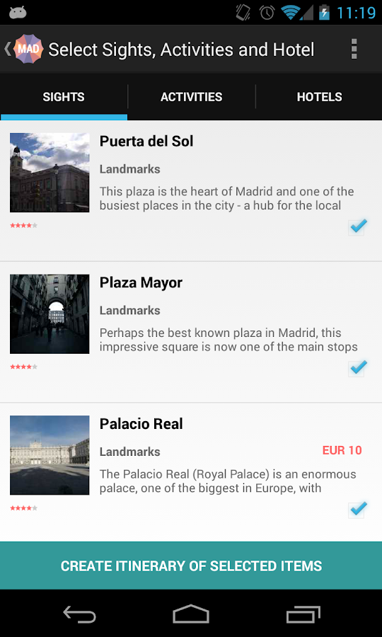 Holidayen Madrid - screenshot