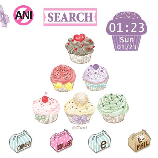 娛樂必備App|CUKI Theme Sweet Cupcake LOGO-綠色工廠好玩App