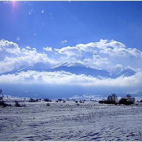 Bansko mountains by Sakis Prodigy - Landscapes Mountains & Hills ( clouds, mountains, bansko, snow, bulgaria )