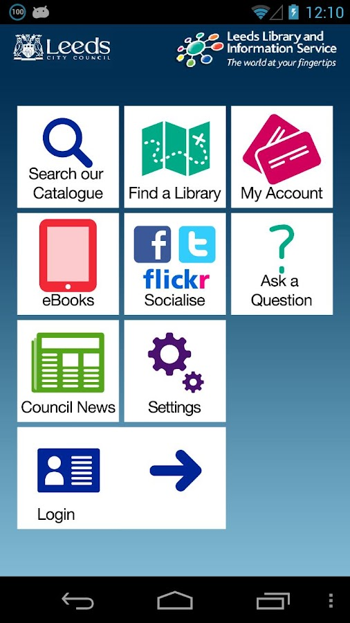 Leeds Libraries- screenshot