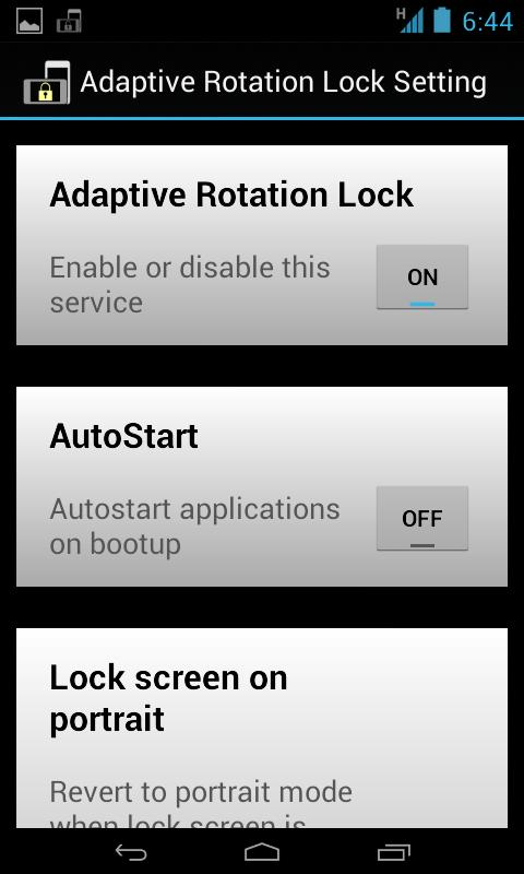 Rotation Lock Adaptive (Free) - screenshot