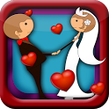 Wedding Couple Kiss icon
