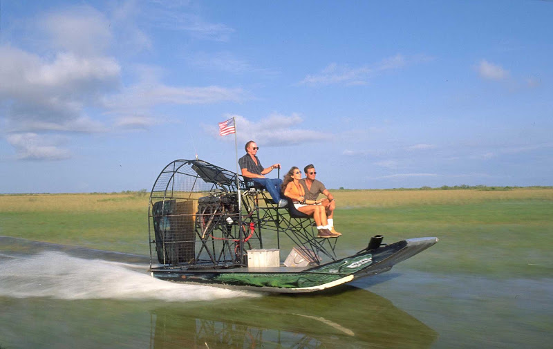An airboat ride in the Everglades outside of Fort Lauderdale.