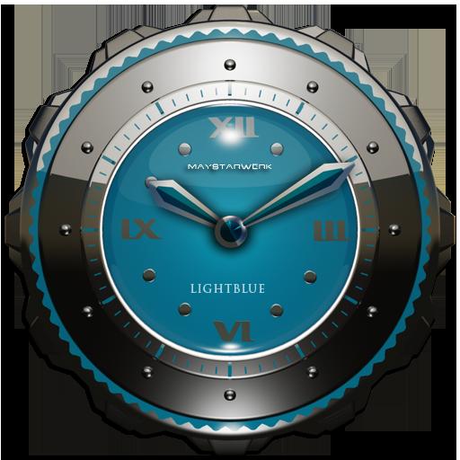 Dragon Clock widget lightblue