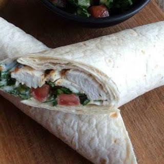Lebanese Chicken Wraps.