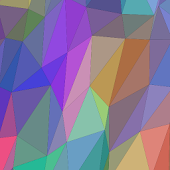 Flat Triangles Live Wallpaper