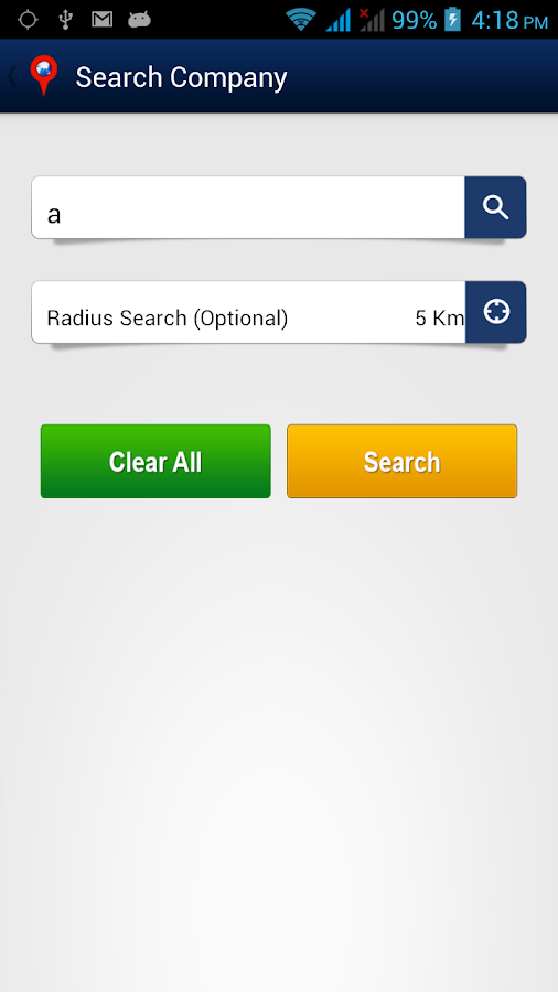 Radius Search- screenshot