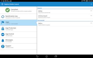 Screenshot of Sophos Mobile Control