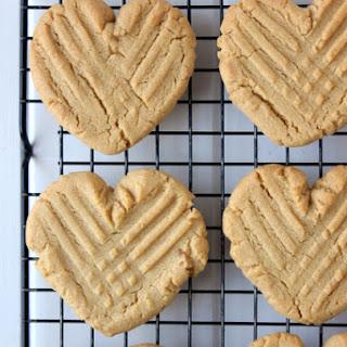 Heart Shaped Peanut Butter Cookies.