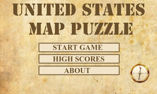 US Map Puzzle - screenshot thumbnail