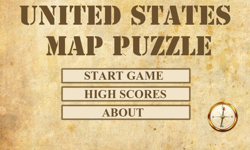 US Map Puzzle - screenshot