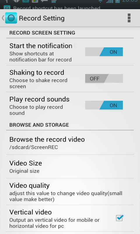 No Root Screen Recorder-Trial- screenshot