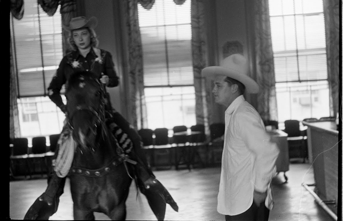 Gordon Macrae On Horse In Press Club Elevator
