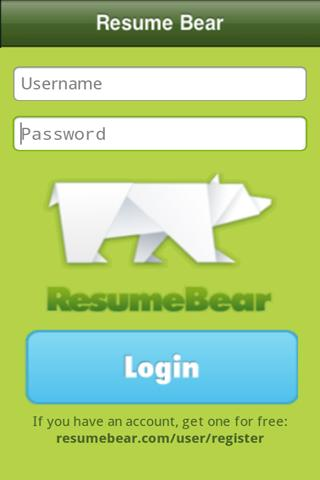 Resumebear - screenshot
