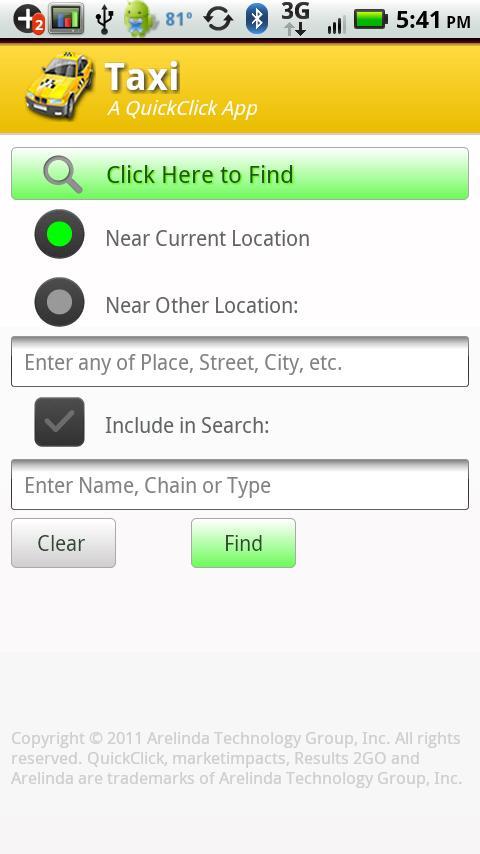 Taxi- screenshot