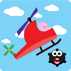 Peppie Pig Copter Racing Games for PC and MAC