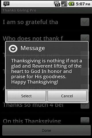 Happy Thanksgiving - screenshot