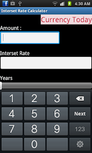 Interset Rate Calculator screenshot