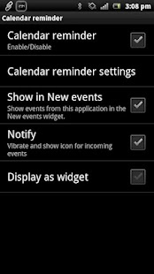 Calendar reminder Smart Extras - screenshot thumbnail